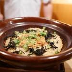 日本料理 山崎 - 香箱蟹とひじきの炊き込みご飯