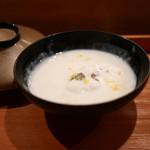 日本料理 山崎 - 白子真丈 白子仕立て