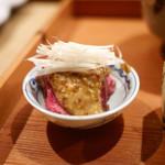 日本料理山崎 - 飛騨牛たたき 粒マスタード
