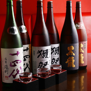 【日本酒飲み比べ♪】『十四代』『獺祭』など豊富な取り揃え!
