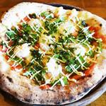 岩国イタリア食堂カンパーニュ - 小えびとモッツァレラチーズの博多明太子ソース