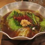 中華そば 大賀110 - 料理写真:モツ鍋(中華麺付き)1,000円
