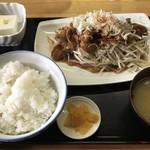 ひかり食堂 - ホルモン焼き定食