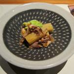 こふく - 料理写真:会津アスパラと空豆の蛍烏賊和え