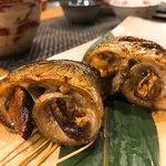 ぼちぼち - これが旨い!秋刀魚松茸の肝醤油焼き!!