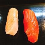 いしはら寿司 - 中トロ ¥400 漬けマグロ¥300