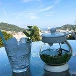 ミーシャのハーブ庭園 ブーケ ダルブル - アイスハーブティー¥600と尾道の風景♫