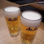 大衆ホルモン肉力屋 - 生ビール