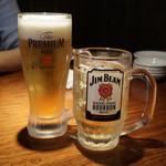 西新五丁目餃子屋台 ヤオマン - ビールとハイボール