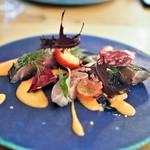 エスタシオン - 真サバのマリネ 苺のガスパチョソース