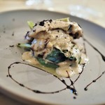 エスタシオン - 牡蠣のプランチャ 菊芋のソース