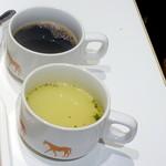 サクラカフェ神保町 - モーニング390円、スープとコーヒー