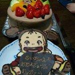 神戸アビルテ - 上のメイちゃんを取るとフルーツたっぷりのケーキ!