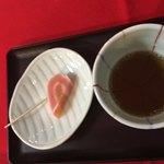 福寿堂秀信 - 料理写真:待ち時間の間のお茶とお菓子