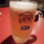 我楽多レディースキッチン - グラス凍る冷え冷えのビール