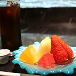 肉や大善 - アイスコーヒーとデザート