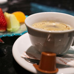 肉や大善 - ホットコーヒーとデザート