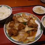 78456760 - 揚げ豚肉醤油炒めランチ