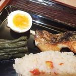 志る幸 - 魚の幽庵焼き、わらび煮、ゆで卵