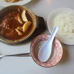 にぐるまやダイニング - 土鍋ハンバーグ930円+セット630円