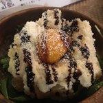 Sumibibaruajito - バルサミコ酢、チーズ、卵黄がトッピング。面白いポテトサラダだった