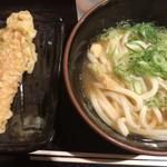 水道橋麺通団 - あつかけ中+ちくわ天