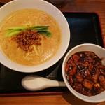 78463109 - 豆乳担々麺セット(ミニマーボー丼付き)…税込960円