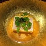 馳走 かく田 - 料理写真:[先付] 梅湯葉豆腐、キャビア