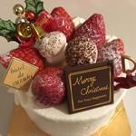 78464444 - 厳選いちごのクリスマスケーキ!4号!