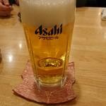 茅乃屋 - 生ビール