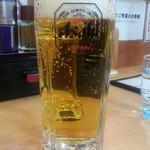 春樹 - おすすめセットのE生ビール+おつまみ600円から生ビールはスーパードライ通常480円