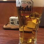 地鶏専門個室 玄 - 生ビール(アサヒスーパードライ)