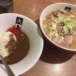 大島 - ミニカレー、焼豚味噌らーめん