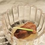 創作割烹 おおた - 料理写真:前菜その1 大根と鮟肝の煮もの