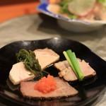 Sousakukappouoota - 前菜その3 鴨ロース、豚ロース、鶏の冷製