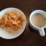 78477232 - サラダとスープ