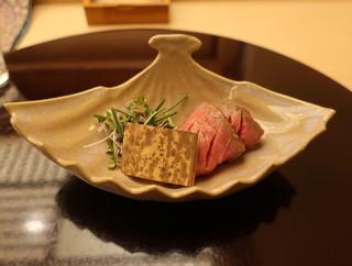 季節料理 なかしま - 宮崎牛のイチボを使ったローストビーフ