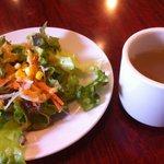 7848957 - ランチメニューのサラダとスープ