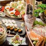 咲椀 - その他写真:舟盛り宴会料理