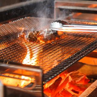 ◆肉も魚も◎土佐の備長炭で焼き上げる贅沢【炭焼き】◆