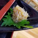 みなと市場 小松鮪専門店 - 「鮫軟骨の梅肉合え」テイクアウト 可