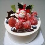 78485523 - クリスマスケーキ(生クリーム、15センチ)
