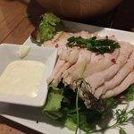 ワインノルイスケ - 自家製鶏ハム-ゆず胡椒マヨネーズ-