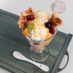 エリーズ カフェ - 新食感!クロワッサン・ワッフル!Mango Splash