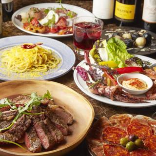 炭火のお肉の数々!スパニッシュ、イタリアン、フレンチも!