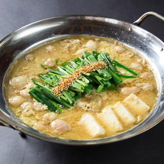 常連さんにも愛される【もつ鍋】は、素材にこだわる人気の逸品