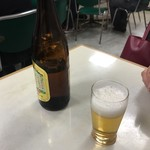 78495087 - ビールで気合入れる!