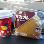ミニストップ - 料理写真:酪王カフェオレパンケーキ 128円