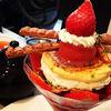 サロン・ド・テ・プレジール - 料理写真:苺とピスタチオのミルフィーユパフェ