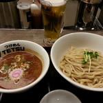 つけめんTETSU - つけめん&生ビール2017.12.24